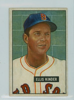 1951 Bowman Baseball 128 Ellis Kinder Boston Red Sox Excellent