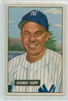 1951 Bowman Baseball 146 Johnny Hopp New York Yankees Very Good to Excellent