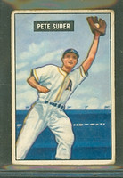 1951 Bowman Baseball 154 Pete Suder Philadelphia Athletics Good to Very Good