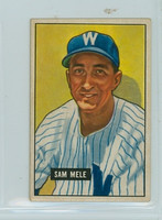 1951 Bowman Baseball 168 Sam Mele Washington Senators Excellent