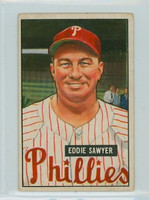1951 Bowman Baseball 184 Eddie Sawyer Philadelphia Phillies Very Good