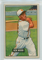 1951 Bowman Baseball 209 Ken Wood St. Louis Browns Very Good to Excellent