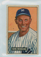 1951 Bowman Baseball 219 Gene Woodling ROOKIE New York Yankees Very Good to Excellent
