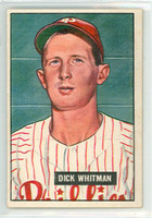 1951 Bowman Baseball 221 Dick Whitman Philadelphia Phillies Excellent to Excellent Plus
