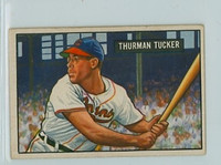 1951 Bowman Baseball 222 Thurman Tucker Cleveland Indians Very Good to Excellent