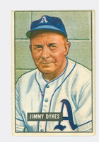 1951 Bowman Baseball 226 Jimmy Dykes Philadelphia Athletics Good to Very Good