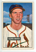 1951 Bowman Baseball 228 Cloyd Boyer ROOKIE St. Louis Cardinals Excellent to Excellent Plus