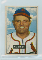 1951 Bowman Baseball 230 Max Lanier St. Louis Cardinals Good to Very Good