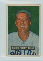 1951 Bowman Baseball 236 Buddy Rosar Boston Red Sox Very Good