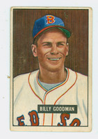 1951 Bowman Baseball 237 Billy Goodman Boston Red Sox Good to Very Good