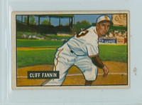 1951 Bowman Baseball 244 Cliff Fannin St. Louis Browns Good to Very Good