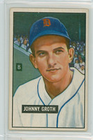 1951 Bowman Baseball 249 Johnny Groth Detroit Tigers Very Good to Excellent