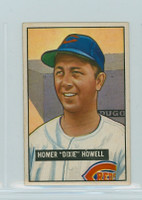 1951 Bowman Baseball 252 Dixie Howell Cincinnati Reds Excellent