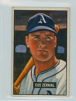1951 Bowman Baseball 262 Gus Zernial High Number Philadelphia Athletics Very Good to Excellent