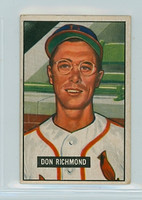 1951 Bowman Baseball 264 Don Richmond High Number St. Louis Cardinals Good to Very Good