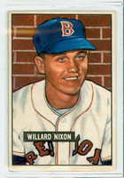 1951 Bowman Baseball 270 Willard Nixon High Number Boston Red Sox Very Good to Excellent
