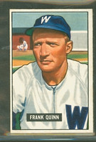 1951 Bowman Baseball 276 Frank Quinn High Number Washington Senators Very Good to Excellent