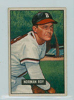 1951 Bowman Baseball 278 Norman Roy High Number Boston Braves Very Good to Excellent