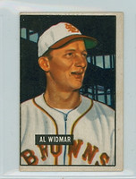 1951 Bowman Baseball 281 Al Widmar High Number St. Louis Browns Good to Very Good