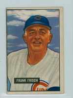 1951 Bowman Baseball 282 Frank Frisch High Number Chicago Cubs Good to Very Good