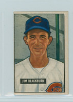 1951 Bowman Baseball 287 Jim Blackburn High Number Cincinnati Reds Good to Very Good