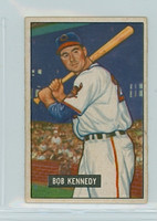 1951 Bowman Baseball 296 Bob Kennedy High Number Cleveland Indians Excellent to Mint