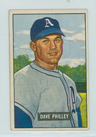 1951 Bowman Baseball 297 Dave Philley High Number Philadelphia Athletics Good to Very Good