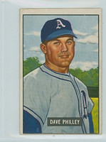 1951 Bowman Baseball 297 Dave Philley High Number Philadelphia Athletics Very Good