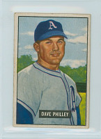 1951 Bowman Baseball 297 Dave Philley High Number Philadelphia Athletics Very Good to Excellent