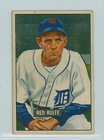 1951 Bowman Baseball 319 Red Rolfe High Number Detroit Tigers Very Good