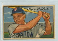 1952 Bowman Baseball 9 Vern Stephens Boston Red Sox Excellent