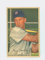 1952 Bowman Baseball 15 Sam Mele Washington Senators Very Good