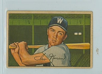 1952 Bowman Baseball 63 Irv Noren Washington Senators Good to Very Good