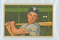 1952 Bowman Baseball 63 Irv Noren Washington Senators Very Good to Excellent