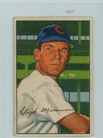 1952 Bowman Baseball 78 Lloyd Merriman Cincinnati Reds Very Good