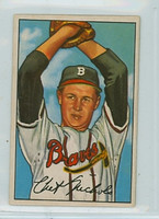1952 Bowman Baseball 120 Chet Nichols Boston Braves Very Good
