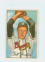 1952 Bowman Baseball 120 Chet Nichols Boston Braves Excellent