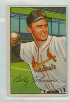 1952 Bowman Baseball 122 Billy Johnson St. Louis Cardinals Excellent