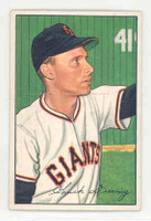 1952 Bowman Baseball 198 Chuck Diering New York Giants Excellent