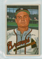 1952 Bowman Baseball 208 Walker Cooper Boston Braves Excellent