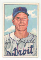 1952 Bowman Baseball 209 Dick Littlefield Detroit Tigers Excellent