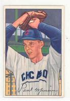 1952 Bowman Baseball 211 Paul Minner Chicago Cubs Excellent