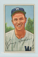 1952 Bowman Baseball 246 Jerry Snyder High Number Washington Senators Excellent to Excellent Plus