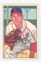 1952 Bowman Baseball 248 Bill Werle High Number St. Louis Cardinals Excellent