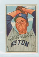 1952 Bowman Baseball 250 Ike Delock High Number Boston Red Sox Excellent to Excellent Plus