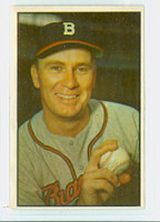 1953 Bowman Color Baseball 37 Jim Wilson Boston Braves Excellent