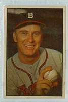 1953 Bowman Color Baseball 37 Jim Wilson Boston Braves Excellent to Mint