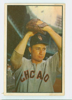 1953 Bowman Color Baseball 50 Lou Kretlow Chicago White Sox Very Good