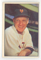1953 Bowman Color Baseball 55 Leo Durocher New York Giants Excellent