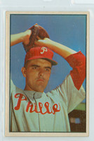 1953 Bowman Color Baseball 64 Curt Simmons Philadelphia Phillies Excellent to Mint